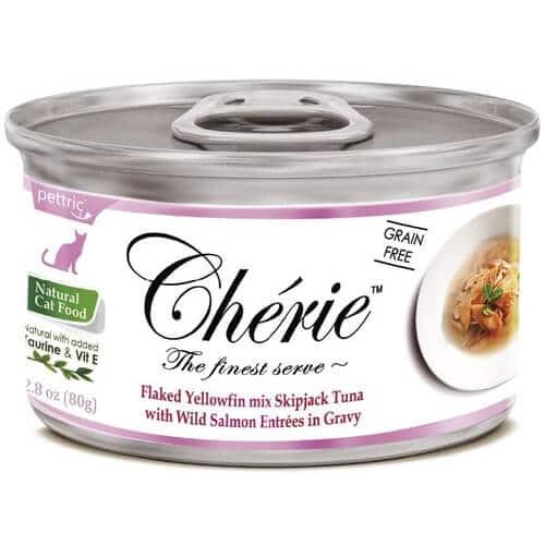 Купить Pettric Cherie Flaked Yellowfin Mix консервы с тунцом и лососем для кошек в дискаунтере товаров для животных Крокодильчик