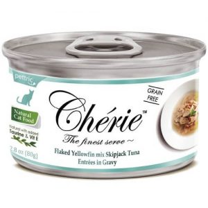 Купить Pettric Cherie Flaked Yellowfin Mix консервы с тунцом для кошек в дискаунтере товаров для животных Крокодильчик