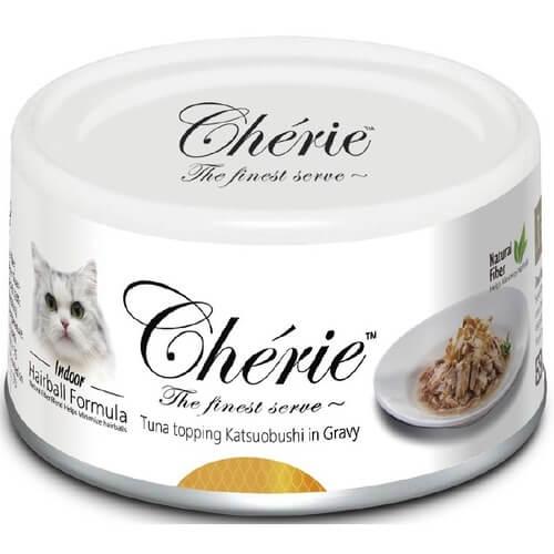 Купить Pettric Cherie Hairball Control консервы с тунцом с хлопьями копченого тунца-бонито для кошек в дискаунтере товаров для животных Крокодильчик