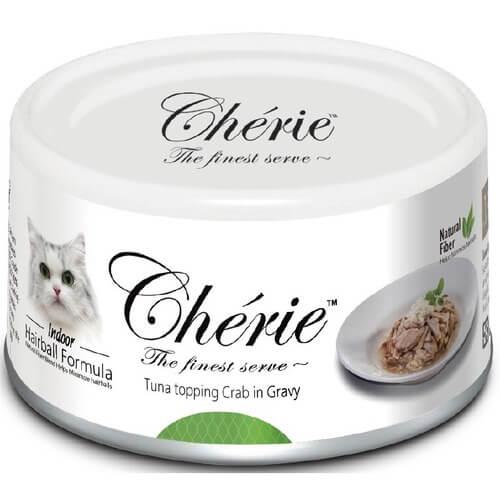 Купить Pettric Cherie Hairball Control консервы с тунцом и мясом краба для кошек в дискаунтере товаров для животных Крокодильчик