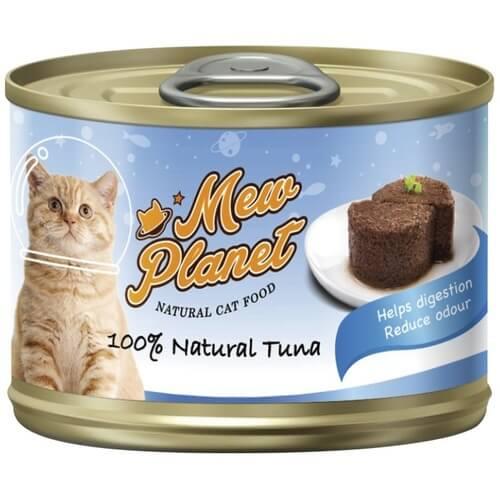 Купить консервы Pettric Mew Planet паштет из свежего тунца для кошек в дискаунтере товаров для животных Крокодильчик