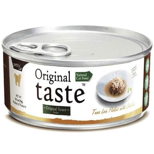 Купить консервы Pettric Original Taste с тунцом и курицей для кошек в дискаунтере товаров для животных Крокодильчик