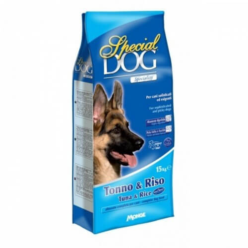 Monge Special Dog корм для собак с чувствительной кожей и пищеварением с тунцом и рисом купить в дискаунтере товаров для животных Крокодильчик в Москве