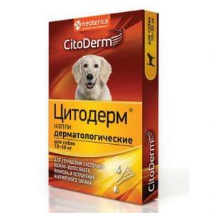 CitoDerm Капли дерматологические для собак, 10-30 кг купить в дискаунтере товаров для животных Крокодильчик