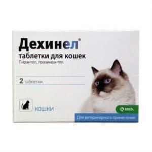 Дехинел антигельминтик таблетки для кошек, 2 шт. купить в дискаунтере товаров для животных Крокодильчик
