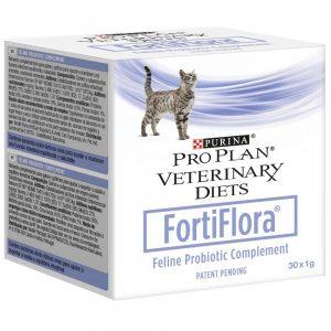 FortiFlora Фортифлора Пурина кормовая добавка для кошек купить в дискаунтере товаров для животных Крокодильчик