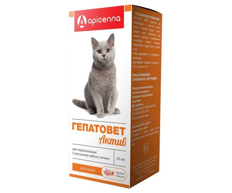 Гепатовет Актив для кошек, флак. 25 мл купить в дискаунтере товаров для животных Крокодильчик в Москве