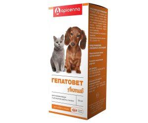 Гепатовет Актив для кошек и собак, флак. 50 мл купить в дискаунтере товаров для животных Крокодильчик в Москве