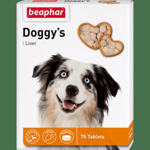 Beaphar Doggys + Liver Витамины для собак с ливером купить в дискаунтере товаров для животных Крокодильчик