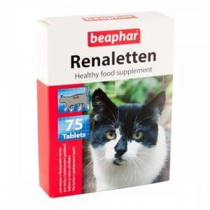 Beaphar Renaletten Витамины для кошек с почечными проблемами купить в дискаунтере товаров для животных Крокодильчик