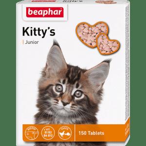 Beaphar Kittys Junior Витамины для котят купить в дискаунтере товаров для животных Крокодильчик