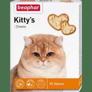 Beaphar Kittys+Cheese Витамины для кошек с сыром купить в дискаунтере товаров для животных Крокодильчик