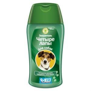Зоошампунь Четыре лапы для ежедневного мытья лап у собак, 180 мл купить в дискаунтере товаров для животных Крокодильчик