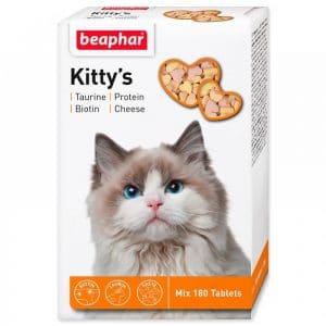 Beaphar Kittys Витамины для кошек таурин + биотин купить в дискаунтере товаров для животных Крокодильчик