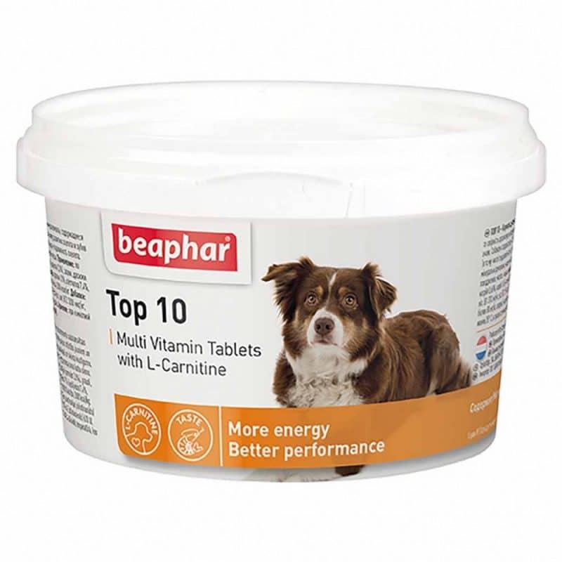 Beaphar Top 10 Витамины для собак купить в дискаунтере товаров для животных Крокодильчик