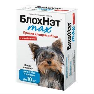 БлохНэт max капли на холку для собак до 10 кг, 1 мл пипетка купить в дискаунтере товаров для животных Крокодильчик