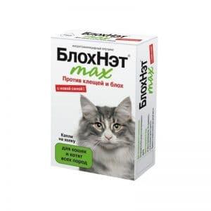 БлохНэт max капли нахолку для кошек и котят всех пород, 1 мл пипетка купить в дискаунтере товаров для животных Крокодильчик