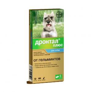 Дронтал плюс таблетки для собак, 6 шт. купить в дискаунтере товаров для животных Крокодильчик