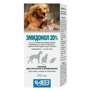 Эмидонол раствор для орального применения 20%, 20 мл купить в дискаунтере товаров для животных Крокодильчик