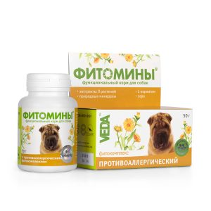 Фитомины корм с фитокомплексом противоаллергическим для собак, 50 г купить в дискаунтере товаров для животных Крокодильчик