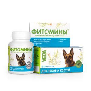 Фитомины корм с фитокомплексом для зубов и костей для собак, 50 г купить в дискаунтере товаров для животных Крокодильчик