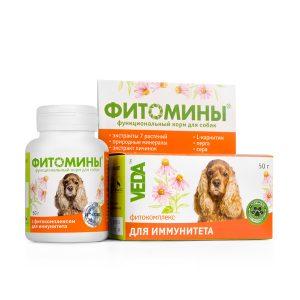 Фитомины корм с фитокомплексом для иммунитета собак, 50 г купить в дискаунтере товаров для животных Крокодильчик