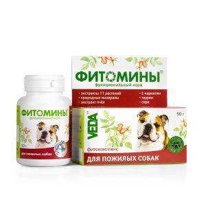 Фитомины корм с фитокомплексом для пожилых собак, 50 г купить в дискаунтере товаров для животных Крокодильчик