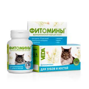 Фитомины корм с фитокомплексом для зубов и костей для кошек, 50 г купить в дискаунтере товаров для животных Крокодильчик