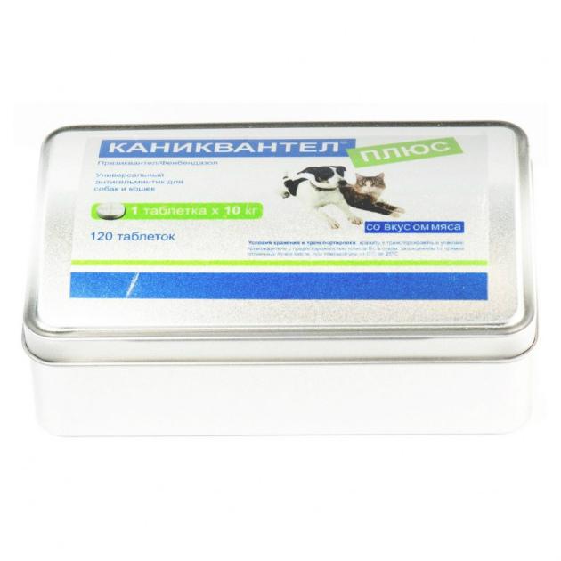 Каниквантел плюс антигельминтик для собак и кошек, 120 таб. купить в дискаунтере товаров для животных Крокодильчик