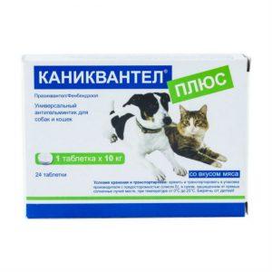 Каниквантел плюс антигельминтик для собак и кошек, 24 таб. купить в дискаунтере товаров для животных Крокодильчик