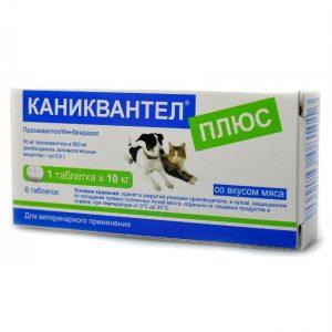 Каниквантел плюс антигельминтик для собак и кошек, 6 таб. купить в дискаунтере товаров для животных Крокодильчик