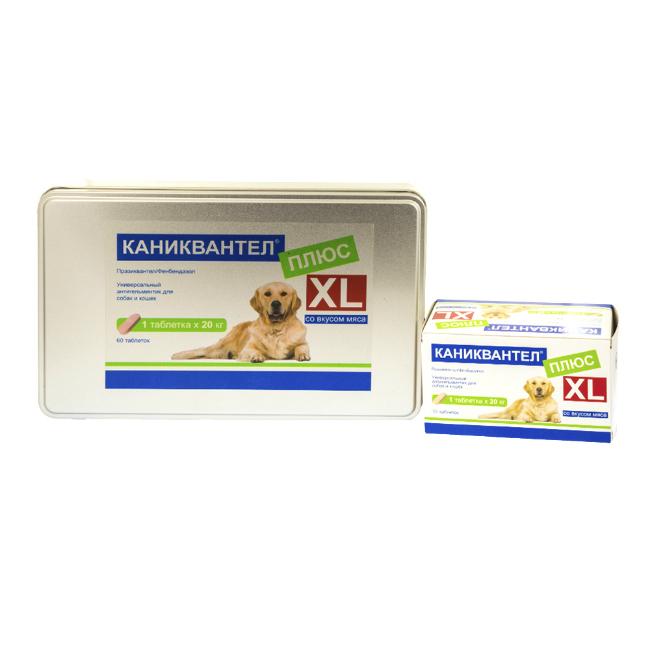 Каниквантел плюс XL антигельминтик для собак и кошек, 60 таб. купить в дискаунтере товаров для животных Крокодильчик