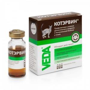 КотЭрвин раствор для кошек и собак 10 мл, флакон 3 шт. купить в дискаунтере товаров для животных Крокодильчик