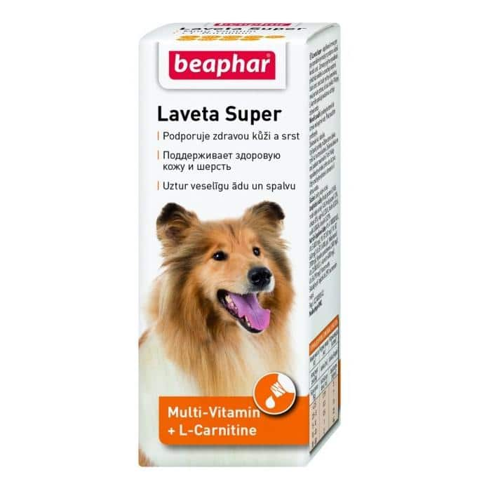 Beaphar Laveta Super Витамины для поддержания здоровой кожи и шерсти у собак, 50 мл купить в дискаунтере товаров для животных Крокодильчик
