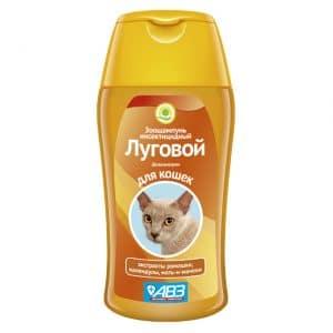 Зоошампунь Луговой инсектицидный с экстрактами лекарственных трав для кошек, 180 мл купить в дискаунтере товаров для животных Крокодильчик