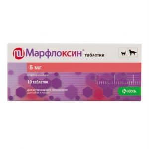 Марфлоксин таблетки 5 мг, 10 шт. купить в дискаунтере товаров для животных Крокодильчик