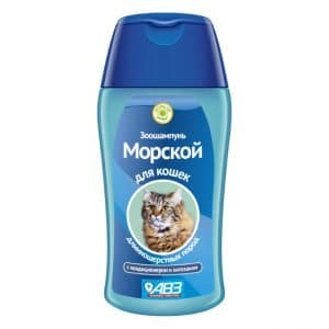 Зоошампунь Морской для кошек длинношерстных, 180 мл купить в дискаунтере товаров для животных Крокодильчик