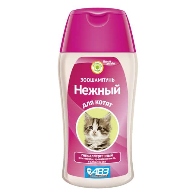 Зоошампунь Нежный гипоаллергенный с хитозаном и аллантоином для котят, 180 мл купить в дискаунтере товаров для животных Крокодильчик