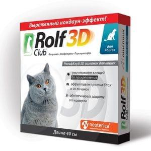 Rolf Club 3D Ошейник для кошек, 40 см купить в дискаунтере товаров для животных Крокодильчик