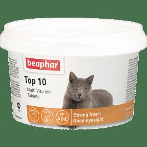 Beaphar Top 10 Витамины для кошек купить в дискаунтере товаров для животных Крокодильчик