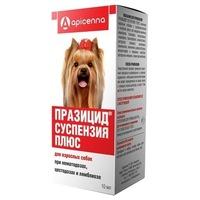 Празицид плюс суспензия для взрослых собак, фл. 10 мл