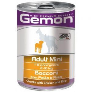 Monge Gemon Dog Mini консервы для собак мелких пород с кусочками курицы и рисом, 450 г купить в дискаунтере товаров для животных Крокодильчик
