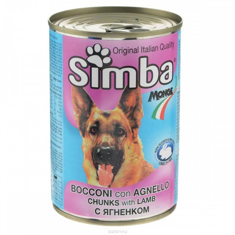 Monge Simba Dog консервы для собак с кусочками ягненка, 1230 г купить в дискаунтере товаров для животных Крокодильчик