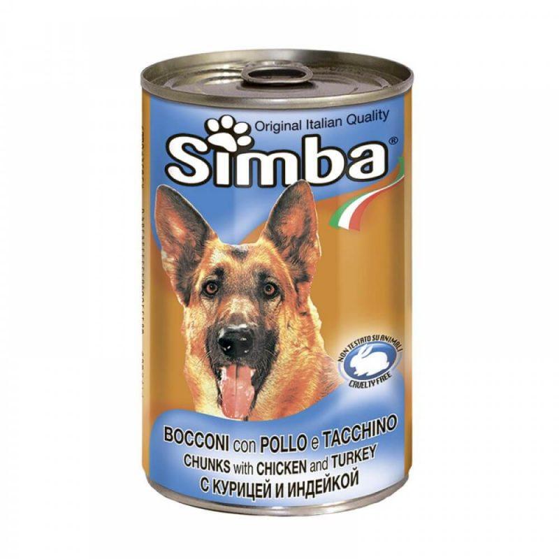 Monge Simba Dog консервы для собак кусочками курицы и индейкой, 1230 г купить в дискаунтере товаров для животных Крокодильчик