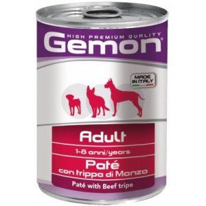 Monge Gemon Dog паштет для собак с говяжьим рубцом, 400 г купить в дискаунтере товаров для животных Крокодильчик