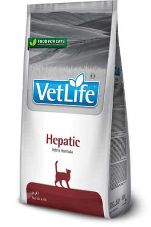 Farmina Vet Life Cat Hepatic сухая диета для кошек Фармина Гепатик купить в дискаунтере товаров для животных Крокодильчик