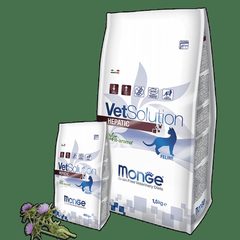 Monge VetSolution Cat Hepatic - Диета для кошек Монж Гепатик купить в дискаунтере товаров для животных Крокодильчик