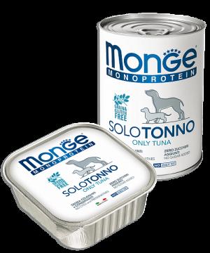 Monge Dog Monoprotein Solo консервы для собак паштет из тунца купить в дискаунтере товаров для животных Крокодильчик