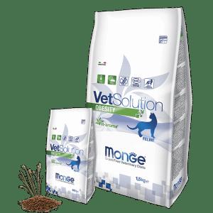 Monge VetSolution Cat Obesity - Диета для кошек Монж Обесити купить в дискаунтере товаров для животных Крокодильчик