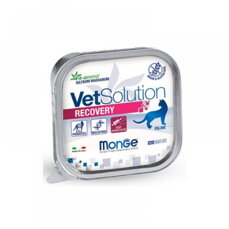Monge VetSolution диета Cat Recovery консервы для кошек, 100 г купить в дискаунтере товаров для животных Крокодильчик